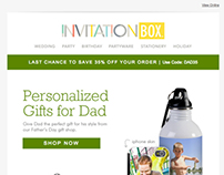 InvitationBox Father's Day promo email