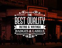 9 Retro insignia & Vintage Labels