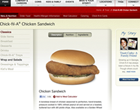 Chick-fil-A Web Design