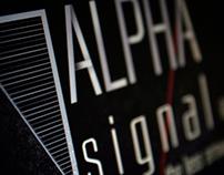 "Logo for the techno label ""Alpha Signal Records"""
