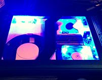 Custom Cut Xbox 360 with blue LEDs