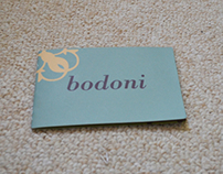 Bodoni Type Specimen Book