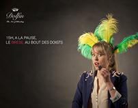 """Dolfin """"Carnet de Voyage"""" print campaign."""