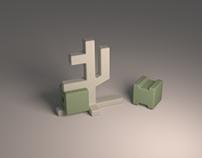 Q-bit Edition 2.0 | Print 3D PLA salt & pepper shakers