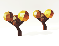 Low Poly Tree Background