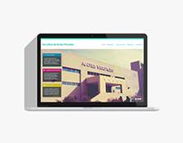 Facultad de Artes Visuales Website Redesign.