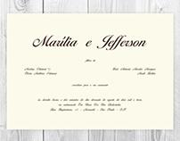 Marília e Jefferson - convite de casamento
