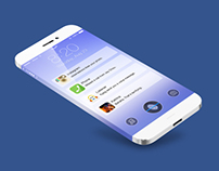 iOS 7 LockScreen and iPhone 5S Template PSD