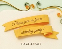 Printable vintage quilled invitation for parties