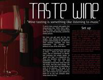 Magazine Layout (Wine Tasting)