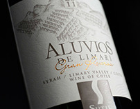 illustration of wine labels