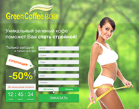 Landing page for Green Coffee