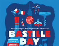 Bastille Day 2012 Poster - Alliance Française d'Austin