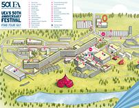 UEA 50th Anniversary Map
