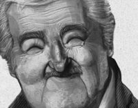 """José """"Pepe"""" Mújica Caricature"""