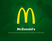 The hungarian McDonald's website's redesign