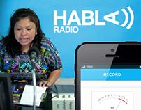 HablaRadio iPhone App Design