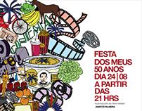 Convite+Painel Festa Marcos Palmeira 50 anos