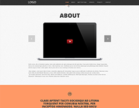 HTML5 Theme with parallax effect