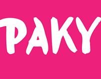 Paky Custom Typeface