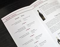 Booklet for vine dinner
