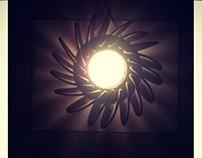 Lampara de cuero // Leather lamp