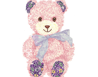 Floral Patterned Teddy Bear