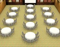 3D VIDEO Render Banquet Asset