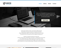 One page Website - Personal Webdesign