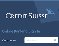 Credit Suisse Banking App Concept