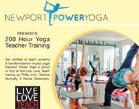 Newport Power Yoga - Teacher Training Flyer