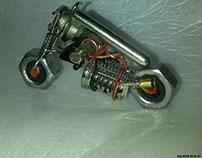 Unglued miniatur prototype bike, ........ SWHST