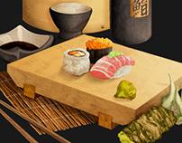 Sushi Box / Illustration & Branding