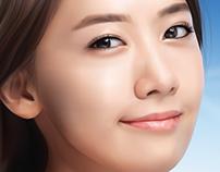 korean girl vector
