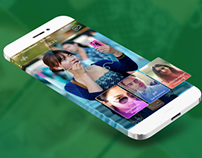 iOS7 Facetime Redesign - Group video chat.