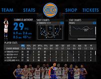 New York Knicks Website Redesign