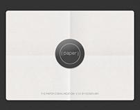 Paper Communication Concept
