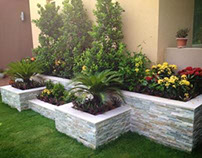 Landscape Design ( Water Feature and Sitting area)