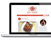 Reel Flavor Cooking Blog Design