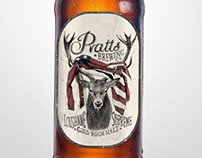 Pratts Brewery - Beer label