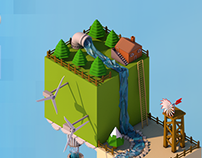 Isometric Low Poly World