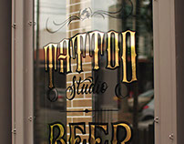 Gold Leaf Pub Windows