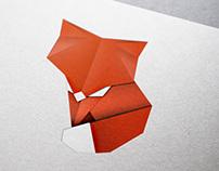 Paper Fox Origami Illustration