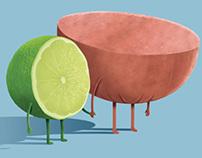 ilustraciones carnes frias