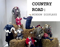 COUNTRY ROAD: Window Displays