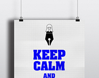 KEEP CALM AND DO CALLIGRAPHY