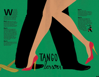 Tango lessons poster
