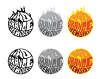 Mad Orange Fireworks Identity