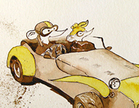Two Mice and a Sports Racing Car