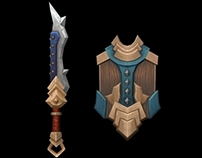 Sword and Shield Texture Paint